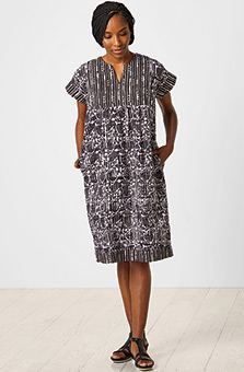 Mahika Dress - Black/White