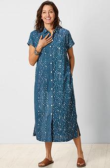 Varani Shirt Dress - River/White