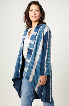 Reversible Shillong Jacket - Bright navy/Ink blue
