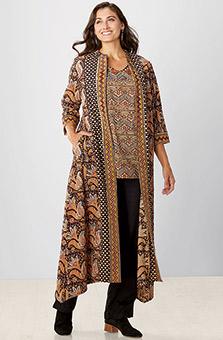 Panhala Jacket - Black natural dye/Multi