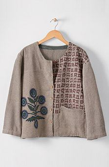 Recycled Yarn Meghna Jacket - Millet