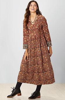 Geethali Dress - Red natural dye