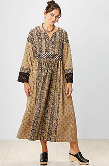 Manali Dress - Olive/Black