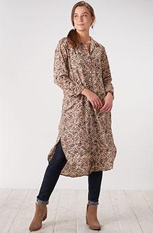 Kamya Shirt Dress - Natural/Multi