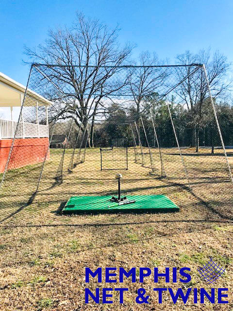 Backyard Batting Cage Installed