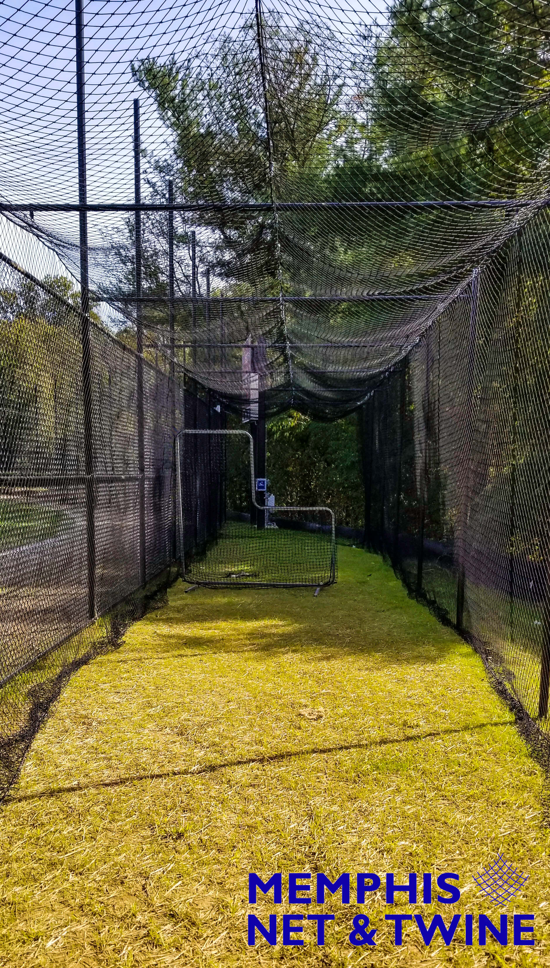 Inside a 70' Batting Cage