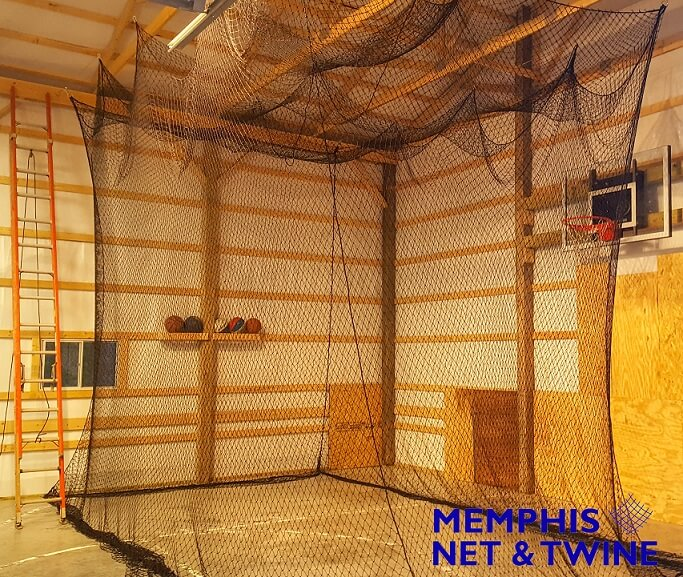 Small 10'x10' Batting Cage made for Garage Installation