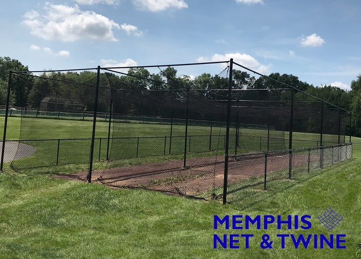 Double Batting Cage purchased and installed by a High School Softball Team