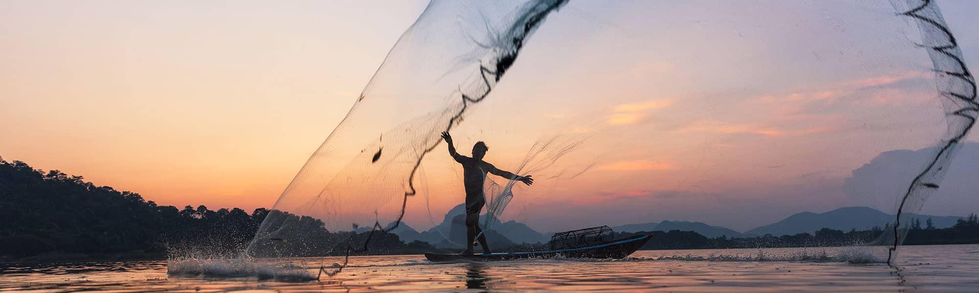 Sunset Casting Fishing Net