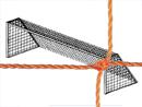 Soccer Goal Nets, 8' High, 24' Wide, 4' Top Depth, 10' Base Depth, Orange, Pair