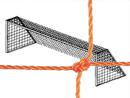 Soccer Goal Nets, 7' High, 12' Wide, 4' Top Depth, 4' Base Depth, Orange, Pair