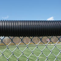 Poly-Cap Fence Protection, Black, 250 ft