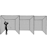 Golf Cage, Triple Unit Treated (includes net only)