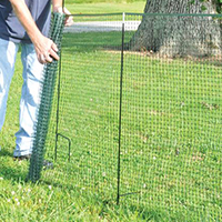 One Step 50 Ft. Temporary Fence Kit -- Shipping will be delayed 2 to 3 weeks.