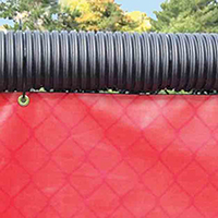 Poly-Cap Fence Protection, Black, 250 ft.