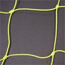 Soccer Goal Nets, 8' H., 24' W., 4' Top Depth, 10' Base Depth, Gold, Pair
