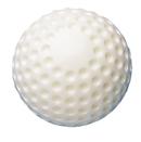 Baseballs, Hard Dimpled Plastic, White, (By the Dozen)