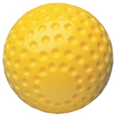 Baseballs, Softer Dimpled Plastic, Yellow, (By the Dozen)