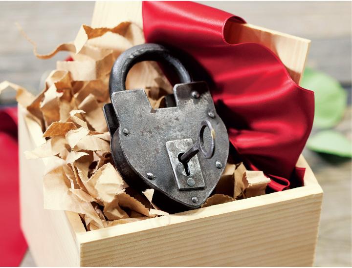 Parisian Love Lock And Key
