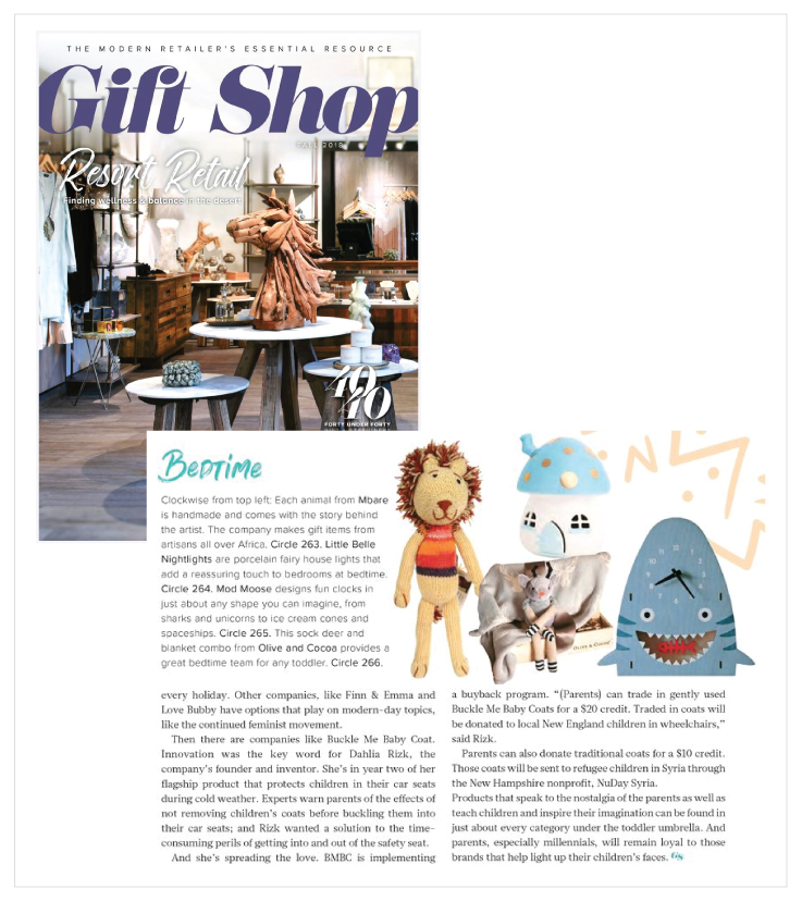 Olive & Cocoa as see in The Fall issue of Gift Shop