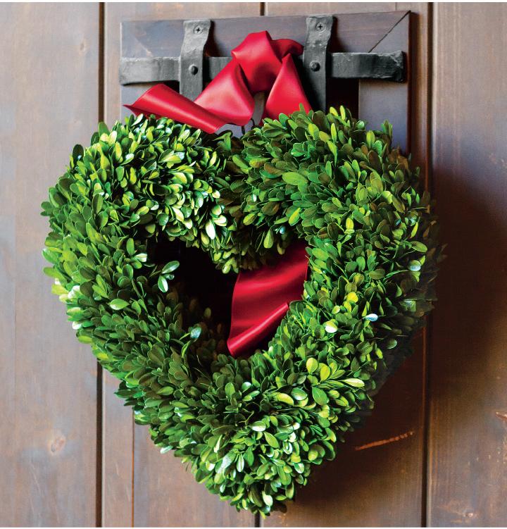 Heart Boxwood Wreath