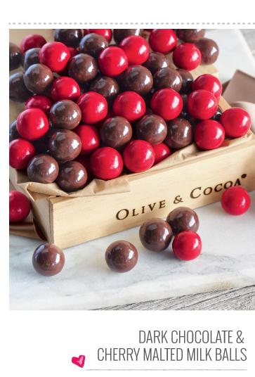 Dark Chocolate & Cherry Malted Milk Balls