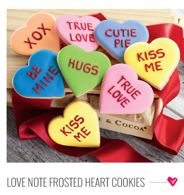 Love Note Frosted Heart Cookies