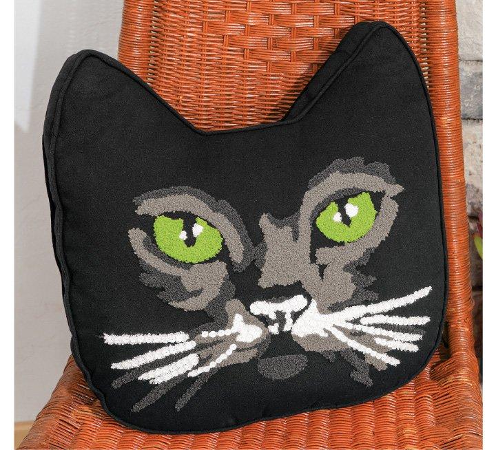Mr. Green Eyes Cat Pillow
