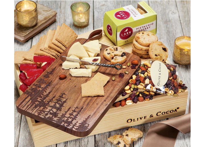 Woodland Serving Board and Snacks