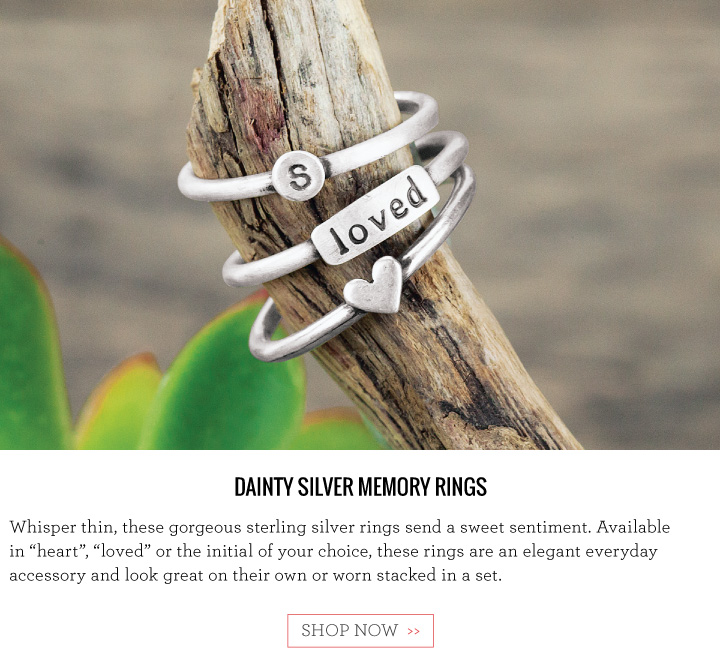 Dainty Silver Memory Rings