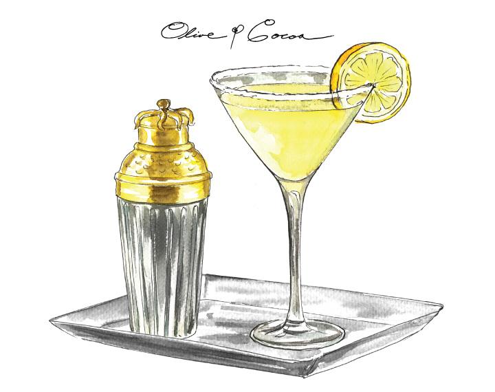 Lemon Drop Martini: Olive & Cocoa
