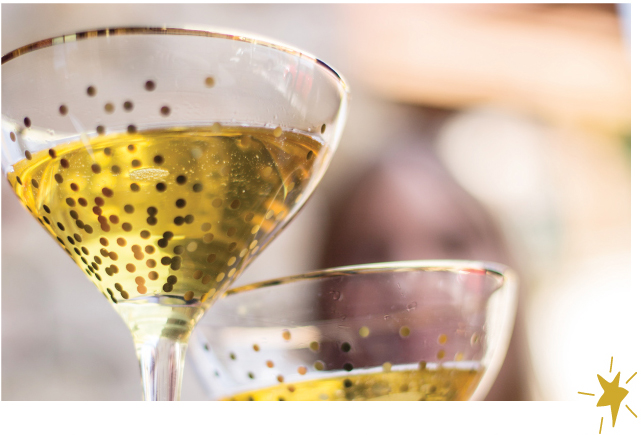 Classic Champagne Cocktail: Olive & Cocoa