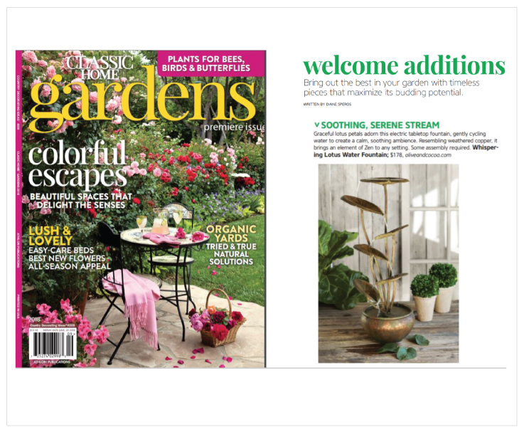 As Seen In Classic Gardens Magazine