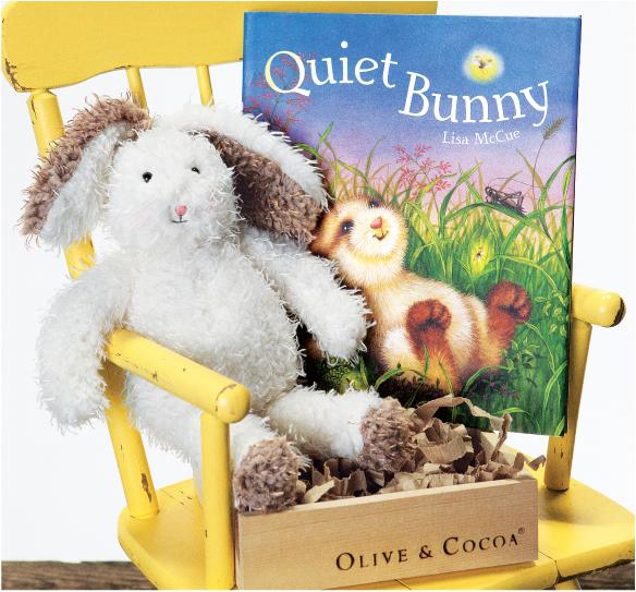 Quiet Bunny Storybook & Rabbit