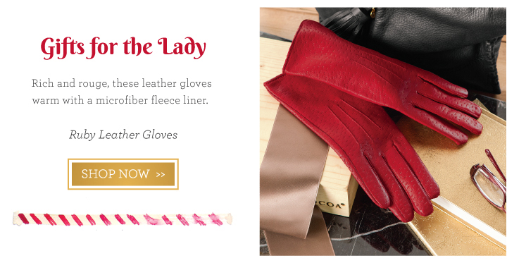 Ruby Leather Gloves