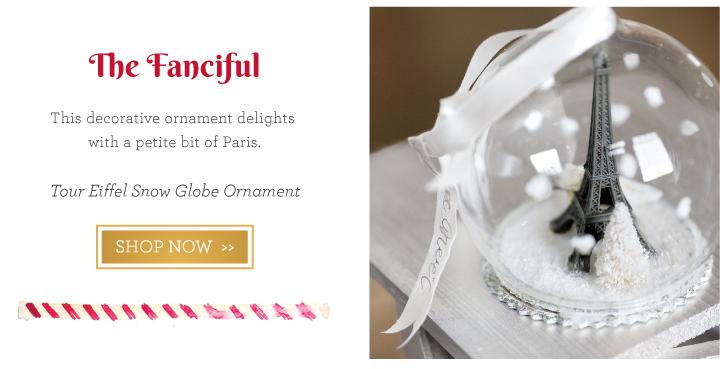 Tour Eiffel Snow Globe Ornament