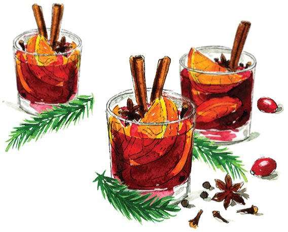 Hot Spiced Holiday Wine: Olive & Cocoa