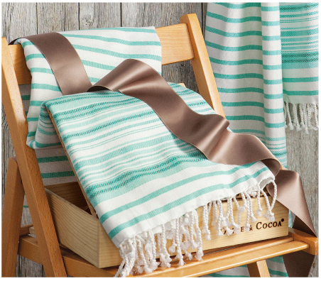 Aqua Turkish Beach Towel Duo