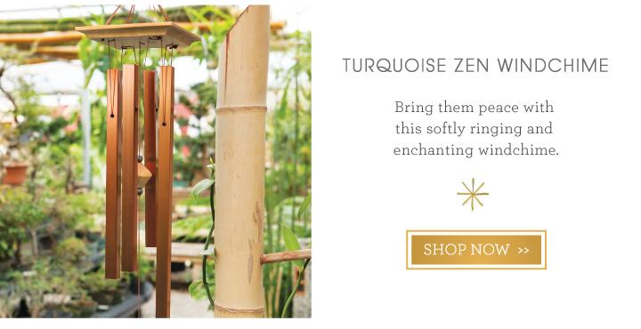 Turquoise Zen Windchime