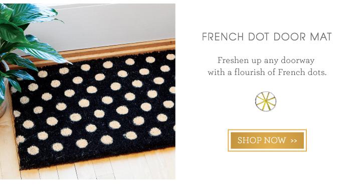 French Dot Door Mat