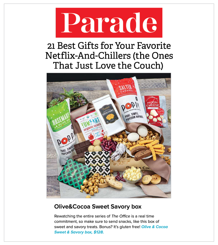 Parade.com featured our Sweet & Savory Gluten-Free Crate