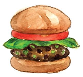 Spicy Black Bean Veggie Burger