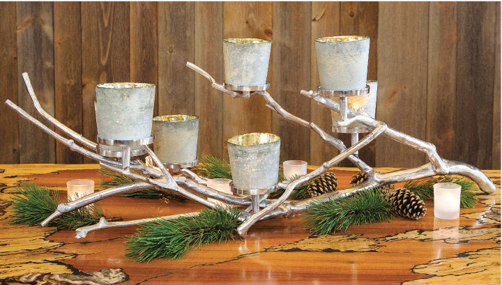 Sleek and Chic Holiday Decor: Olive & Cocoa