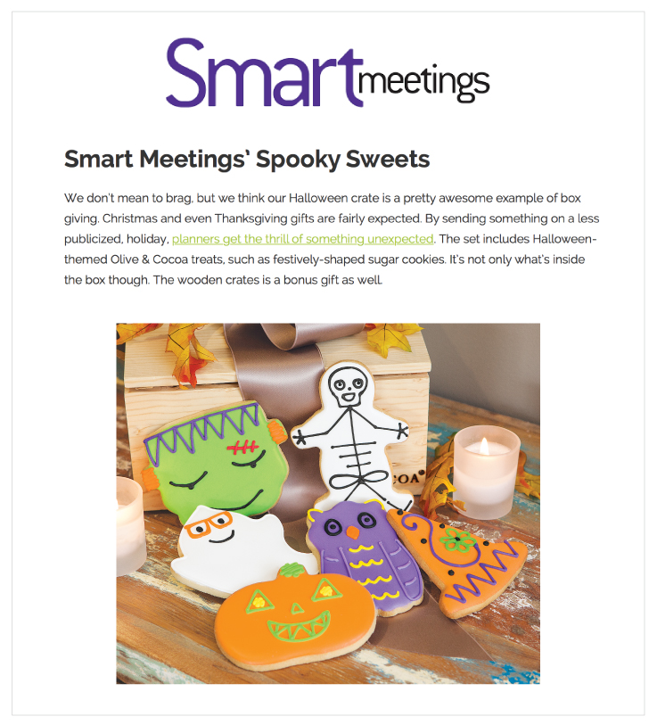 Our Frightfully Fun Cookie Crate in Smart Meetings