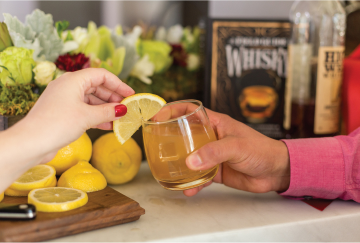 Spiced Grapefruit Whiskey Sour