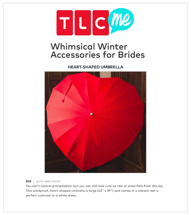 Our Cover My Heart Umbrella was Featured on TLC.com