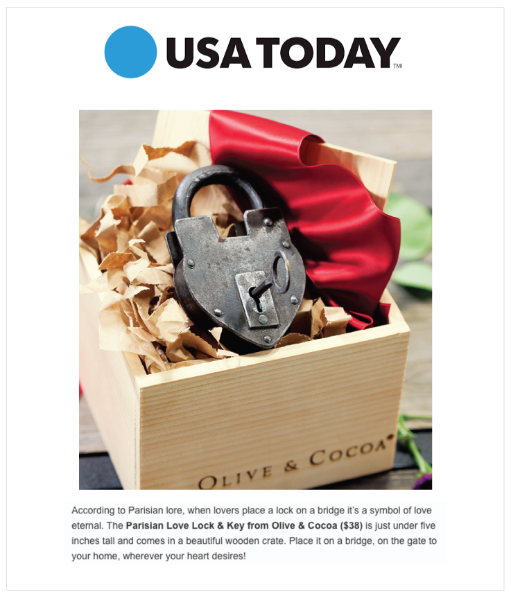 As Seen In USA Today: Olive & Cocoa