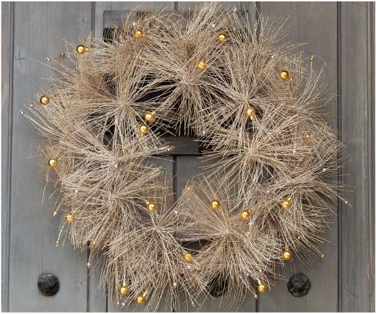 Mod Metallic Wreath