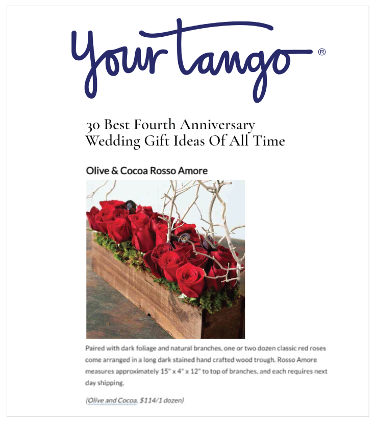 As Seen in YourTango - Rosso Amore: Olive & Cocoa