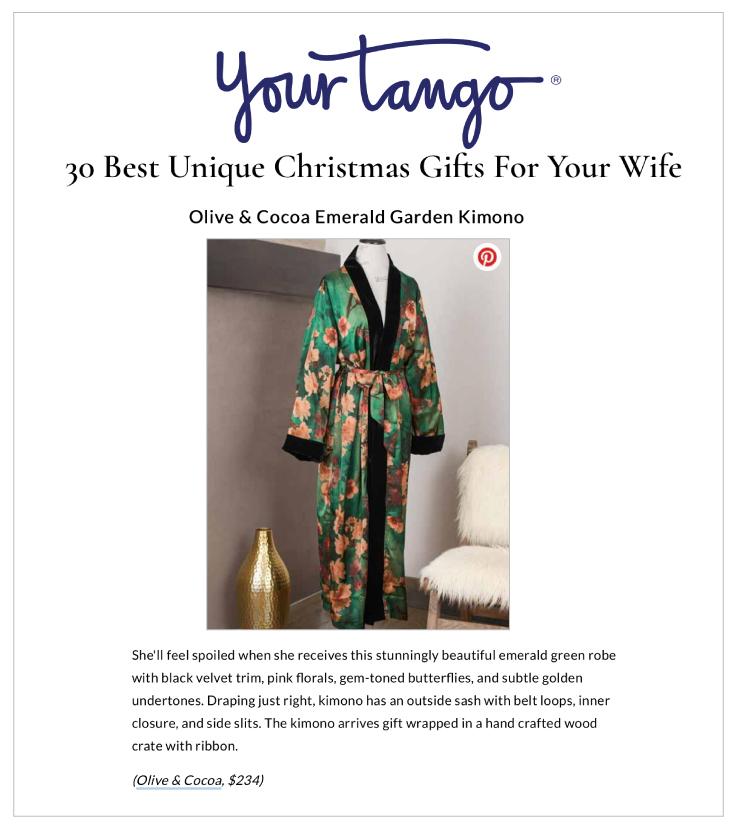 Our Emerald Garden Kimono & Tray On YourTango.com